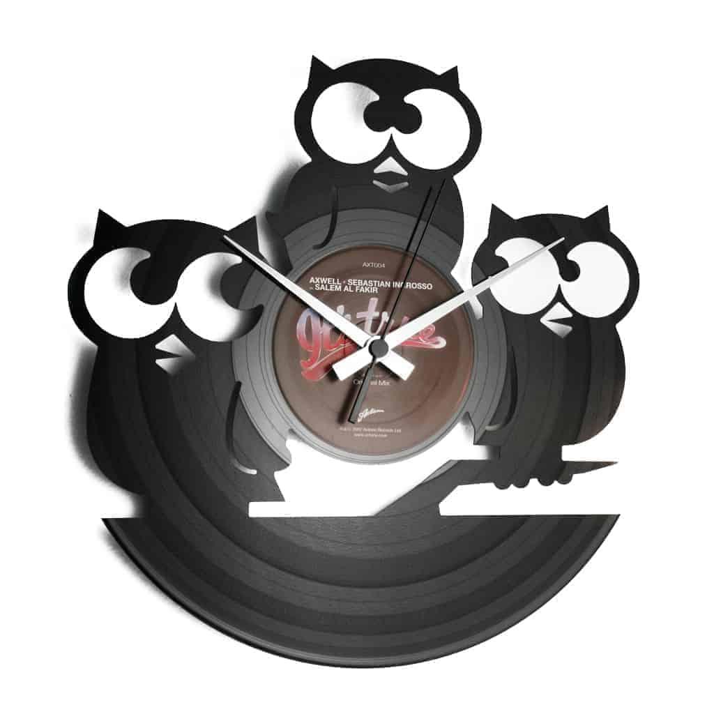 TRE CIVETTE SUL COMO' stenska ura iz gramofonske plošče