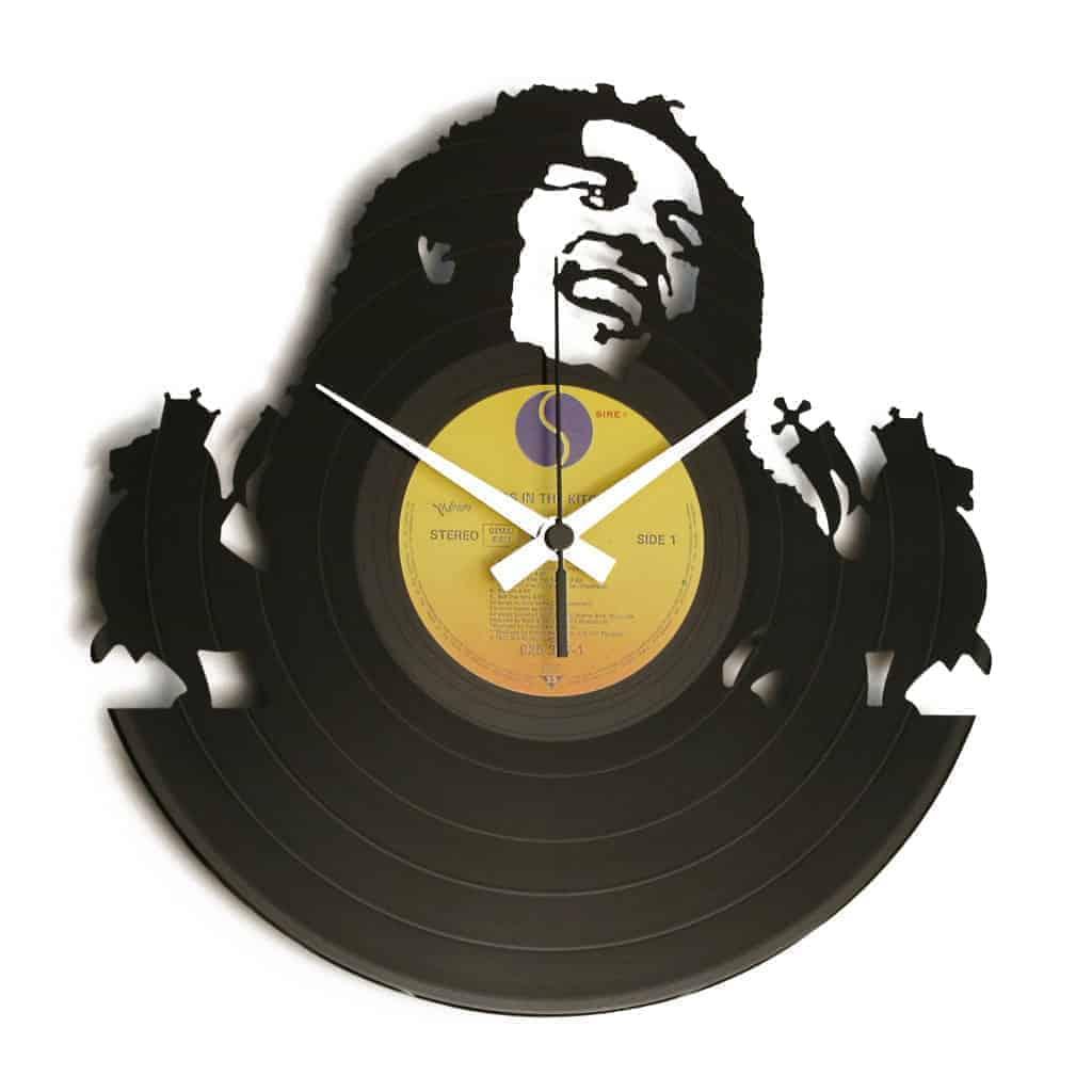 BOB stenska ura iz gramofonske plošče