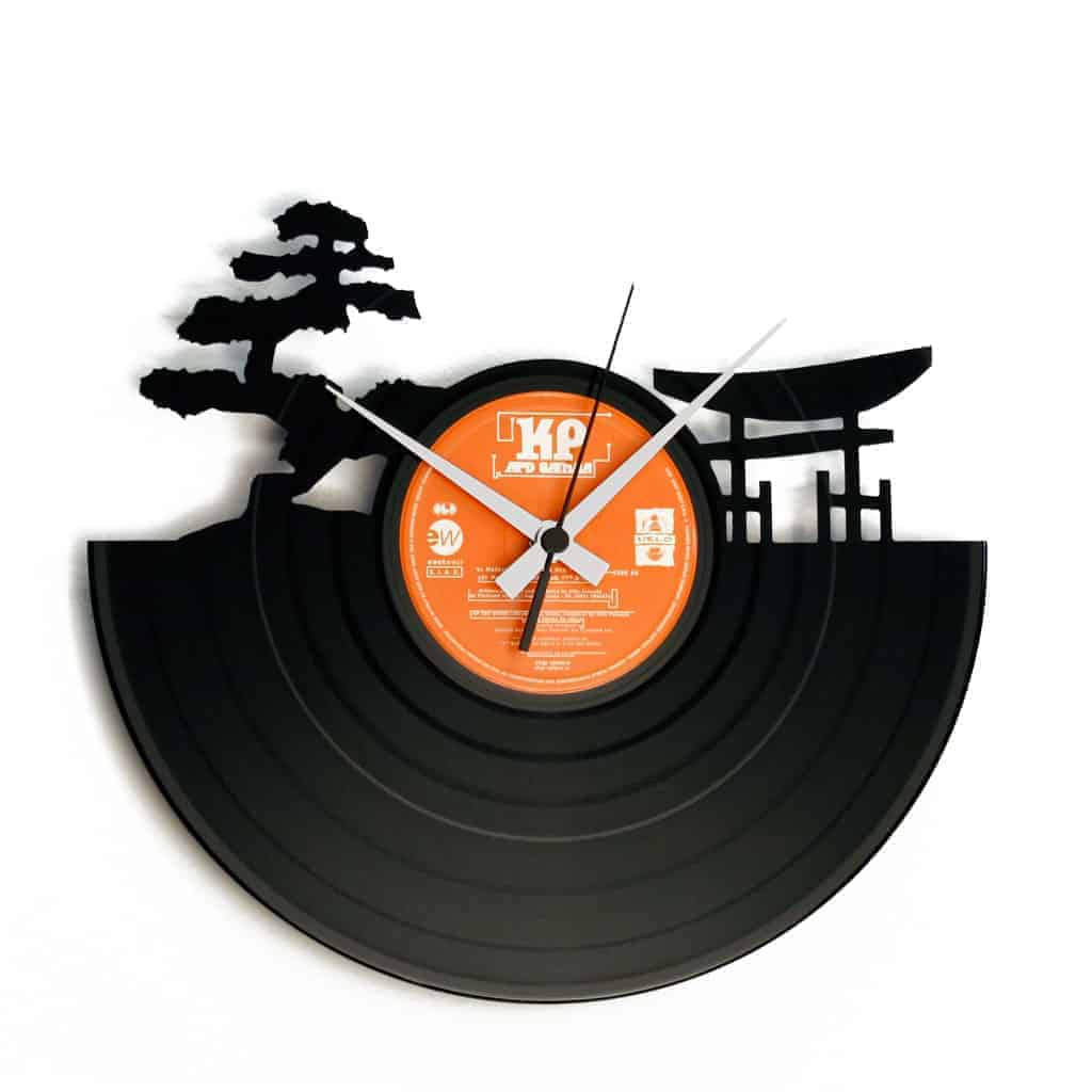 SUNSET stenska ura iz gramofonske plošče