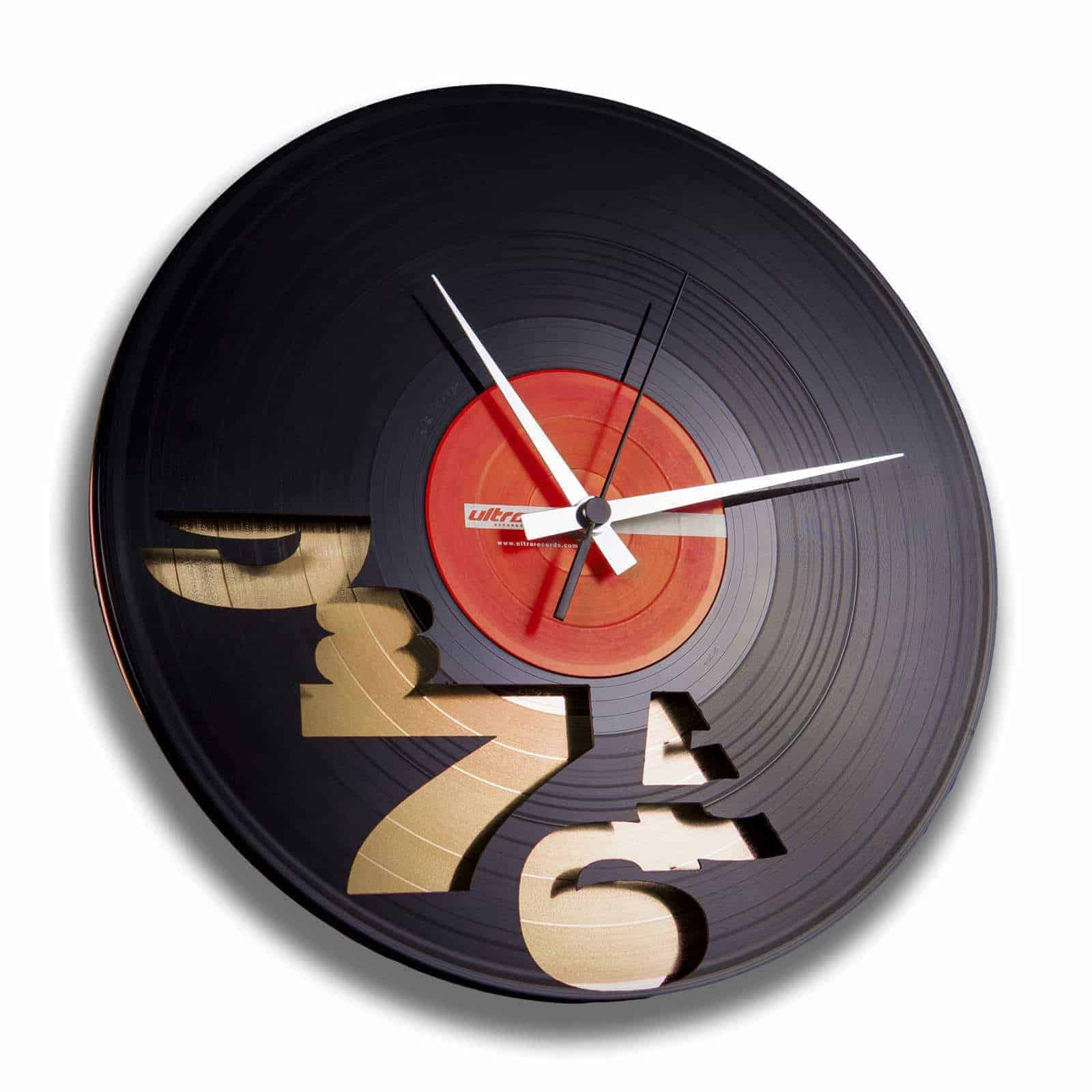 I'LL NEVER WORK 9 TO 5 AGAIN stenska ura iz gramofonske plošče