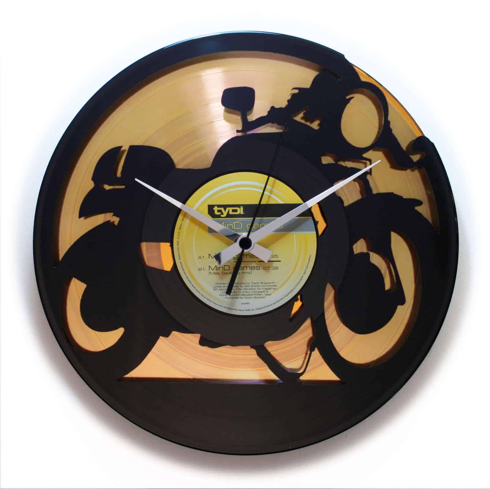 CAFE RACER 2 stenska ura iz gramofonske plošče