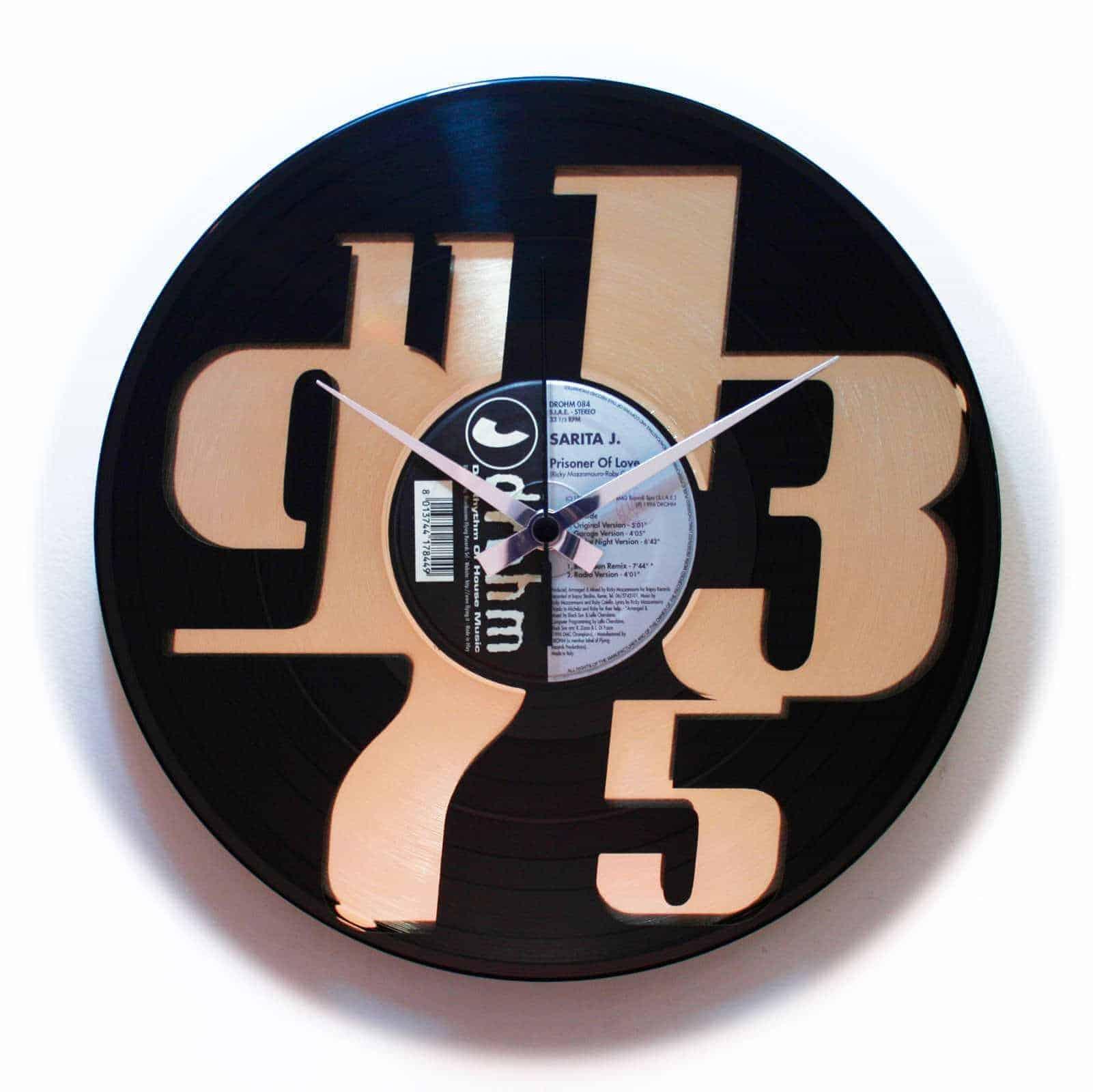 DISPARI 3 stenska ura iz gramofonske plošče
