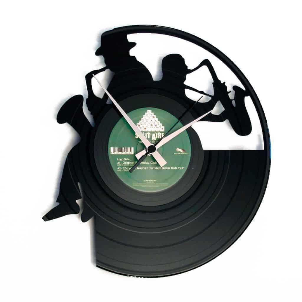 SAX stenska ura iz gramofonske plošče