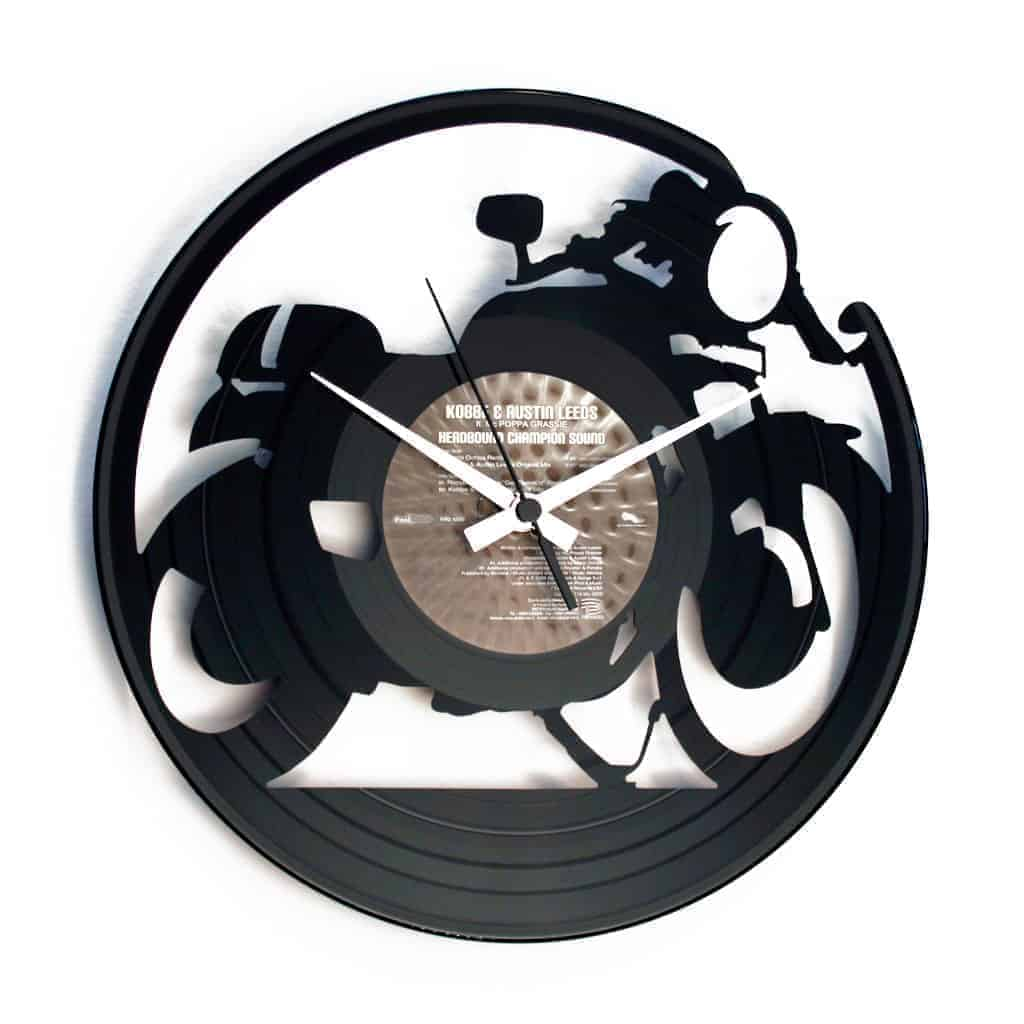 CAFE' RACER orologio con disco in vinile