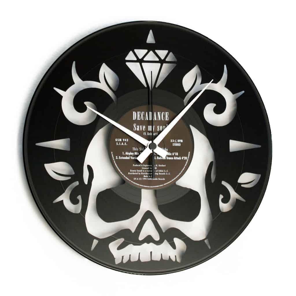 SKULL orologio con disco in vinile