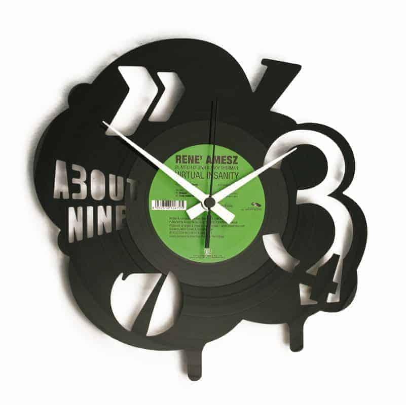 POP stenska ura iz gramofonske plošče