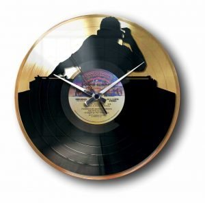 dj Golden vinyl record wall clock