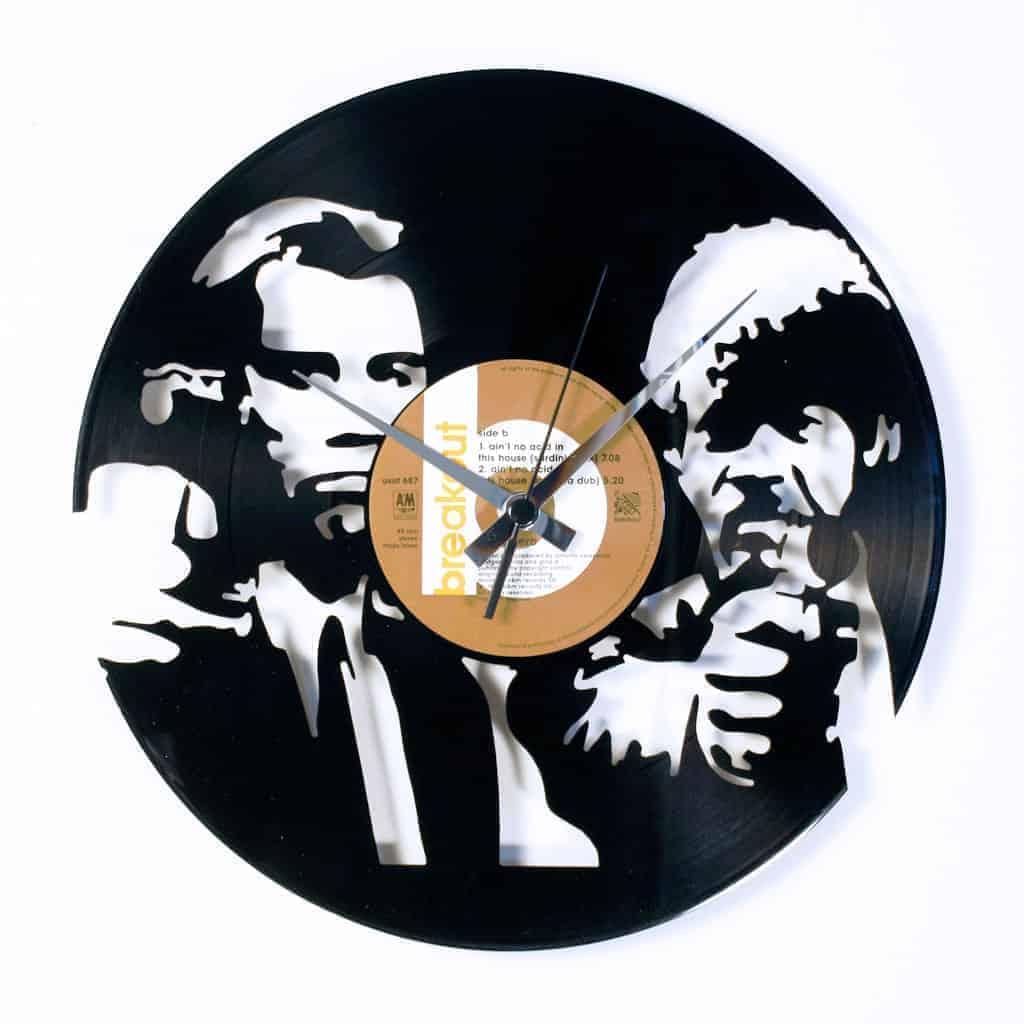 EZEKIEL 25:17 stenska ura iz gramofonske plošče