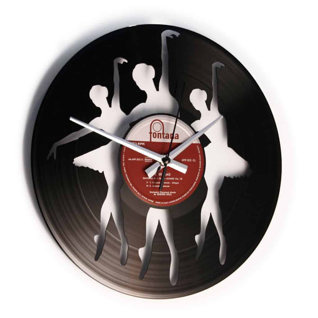 BALLERINAS stenska ura iz gramofonske plošče