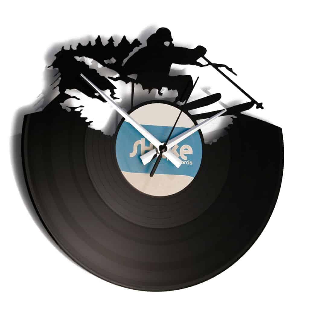 SKI stenska ura iz gramofonske plošče