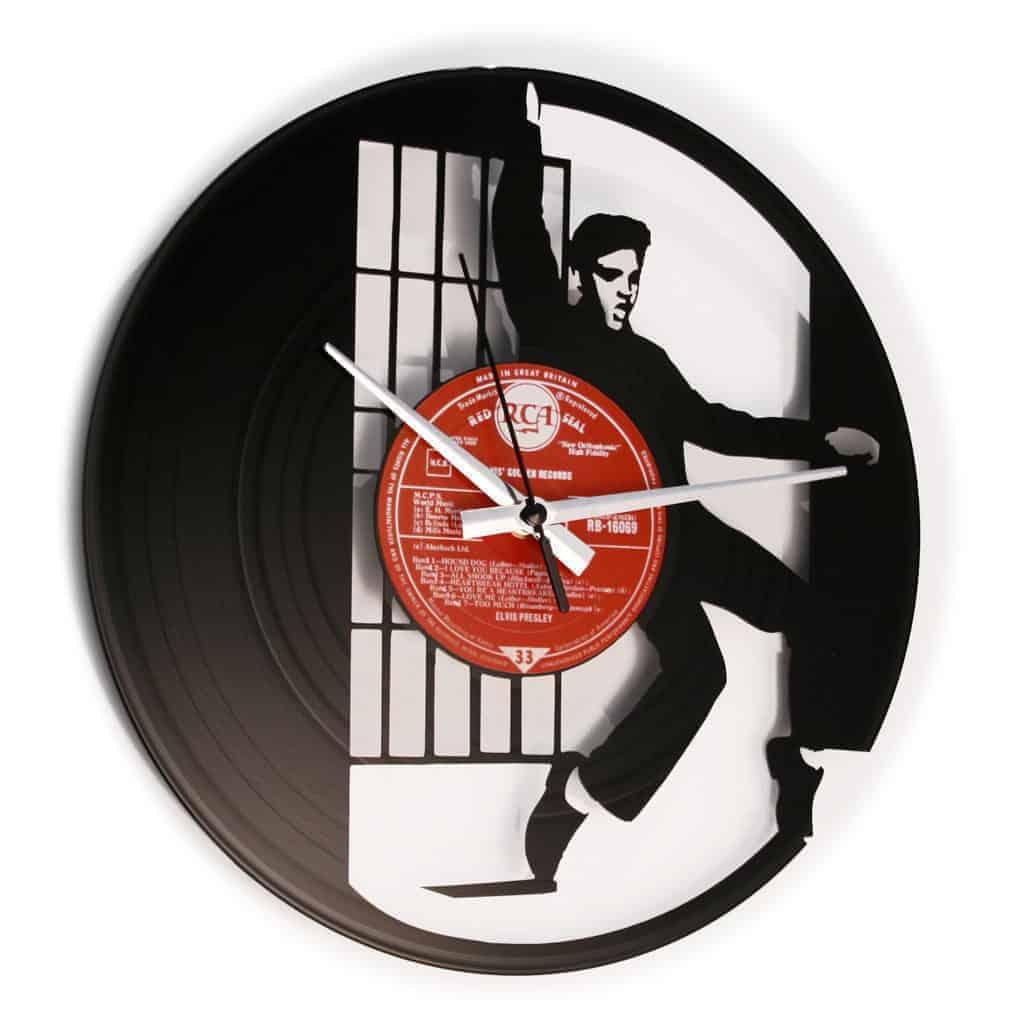 JAILHOUSE ROCK stenska ura iz gramofonske plošče