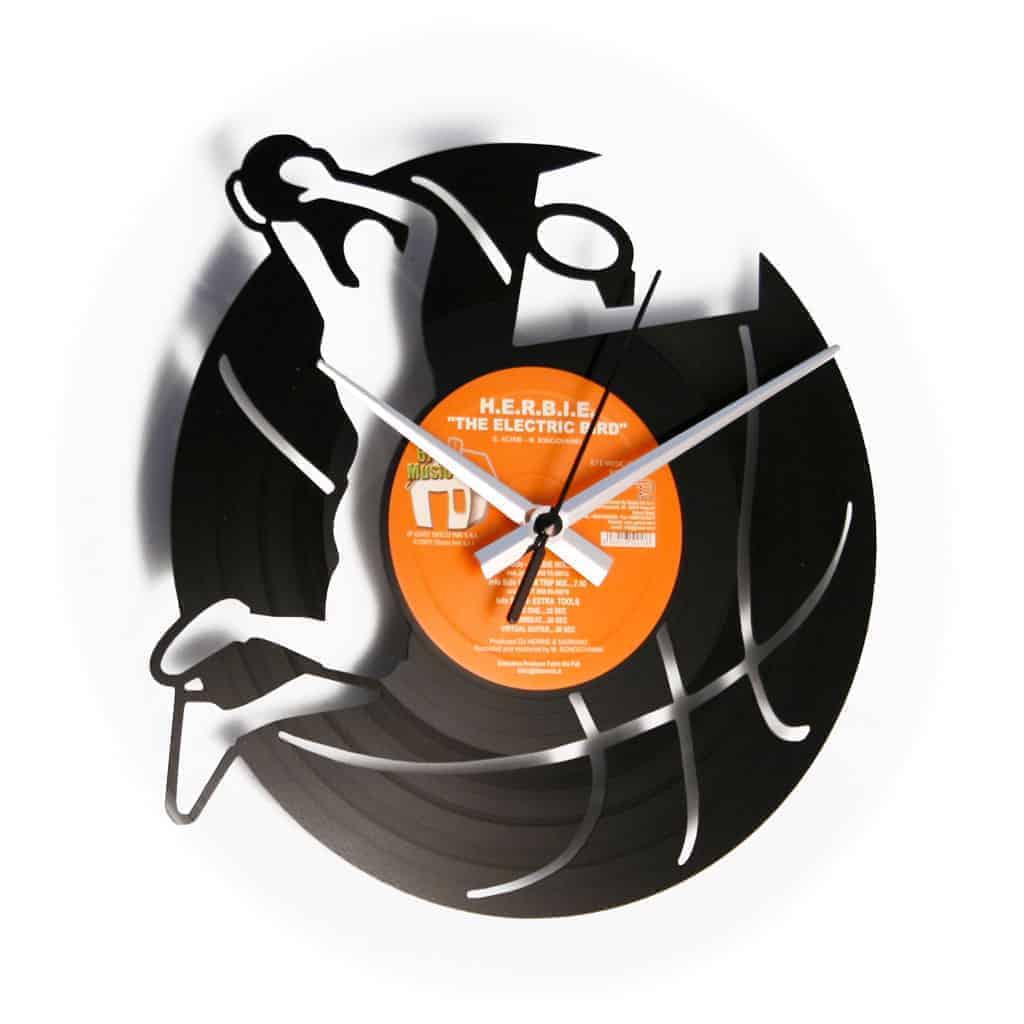BASKET stenska ura iz gramofonske plošče