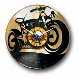 gold or silver motor bike vinyl clock