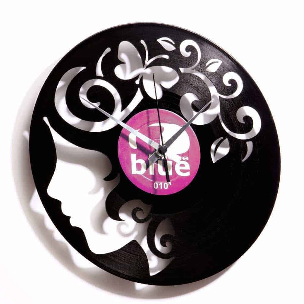 CURLY THOUGHTS  vinyl record clock