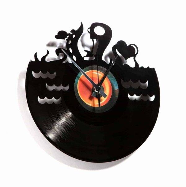 UNDERWATER LOVE vinyl record clock