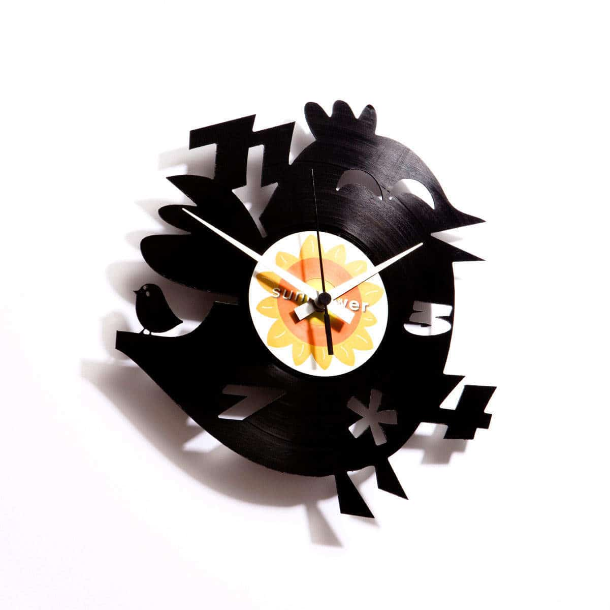 TWITTER'S DUMB BROTHER vinyl record clock