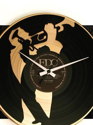 orologio da parete in vinile - vinyl record clock