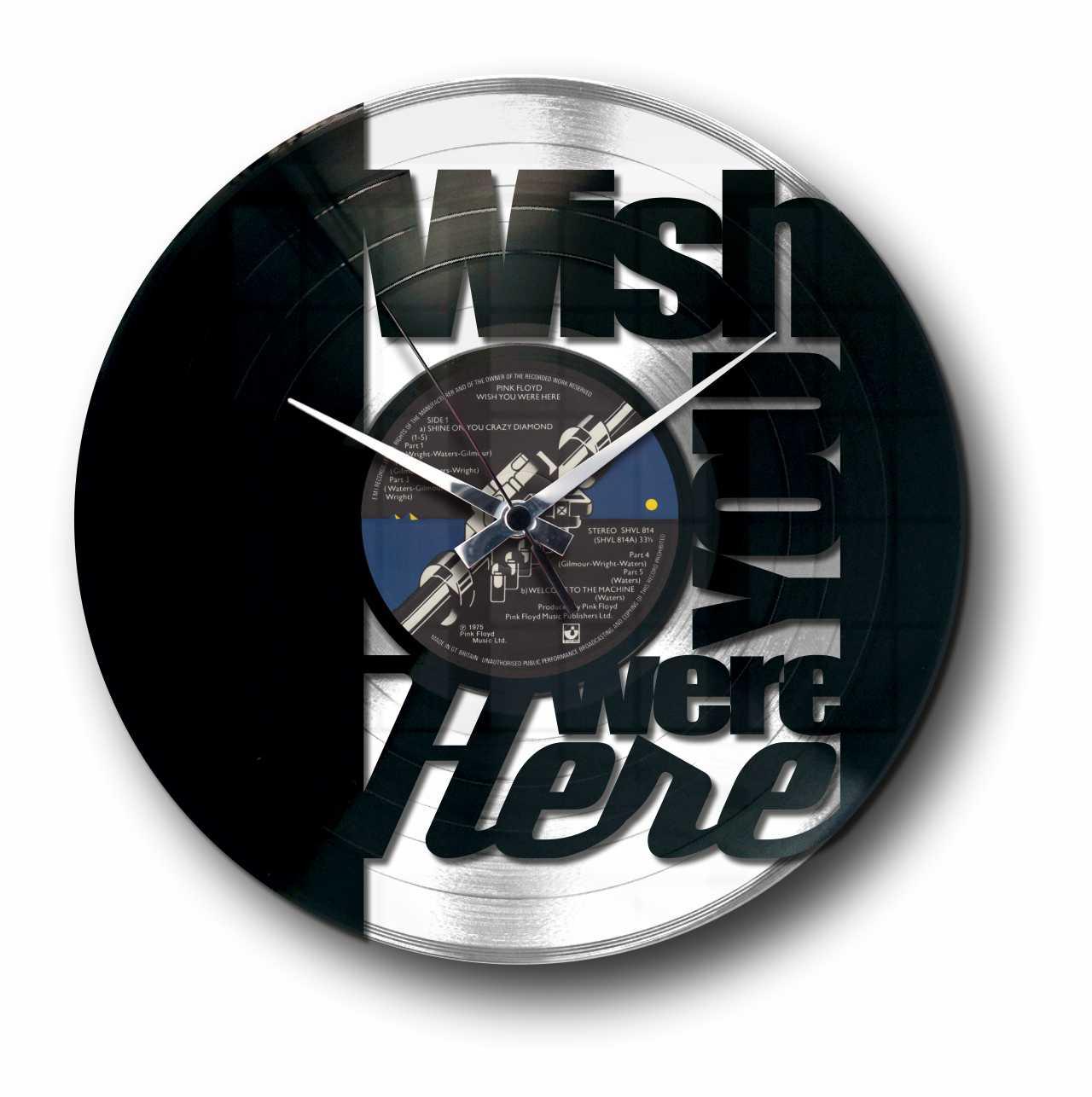 miglior servizio 857ae d186e WISH YOU WERE - GOLD or SILVER VINYL RECORD WALL CLOCK
