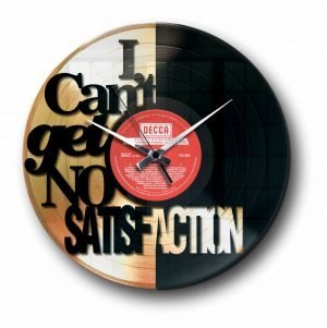 satisfaction rolling stones Golden vinyl record wall clock