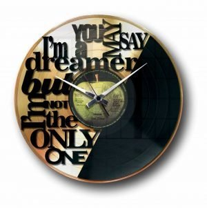 imagine john lennon golden vinyl record wall clock