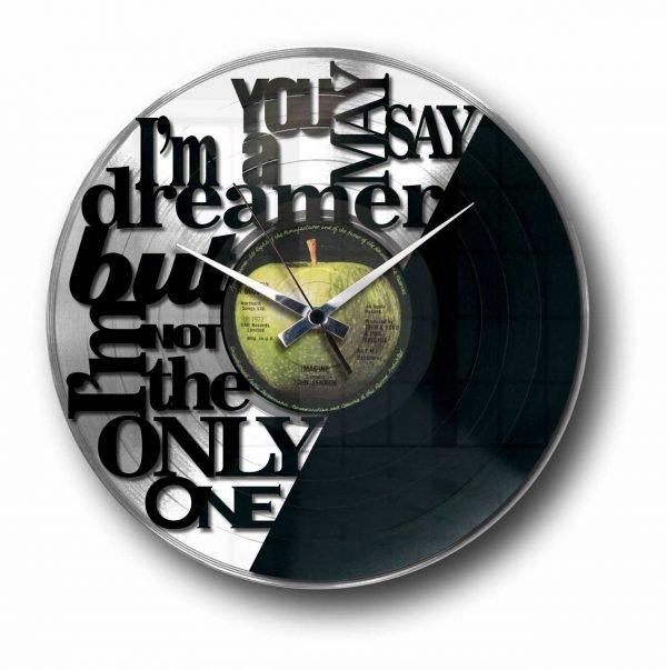 imagine john lennon silver vinyl record wall clock