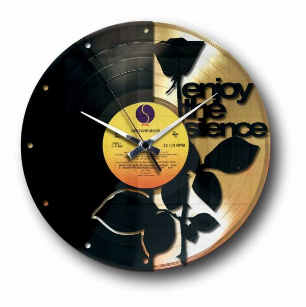 enjoy the silence depeche mode Golden vinyl record wall clock