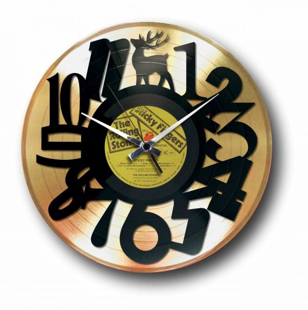 Numbers Golden Vinly Record wall clock