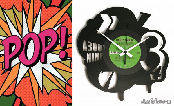 POP vinyl record clock