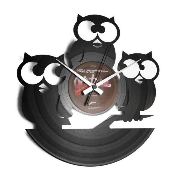 NATURE inspired vinyl record clocks