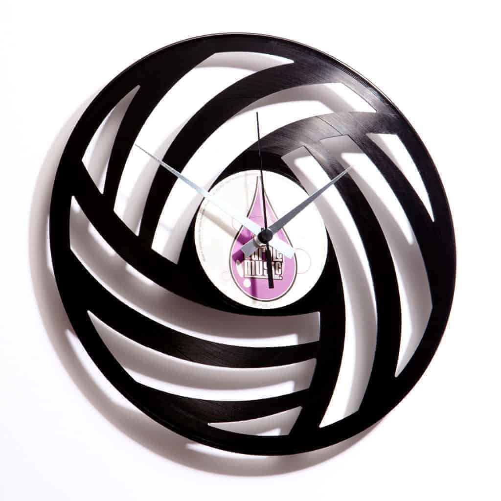 PURE WOOL vinyl record clock