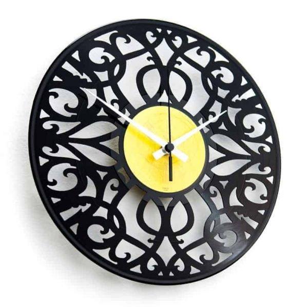 baroque vinyl record clock