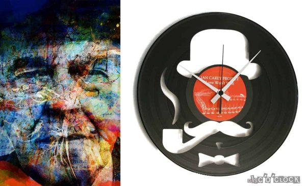 HARRY vinyl record clock