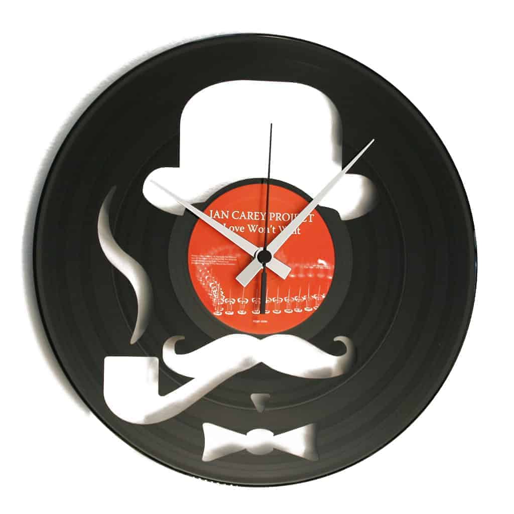 HARRY vinyl record clock