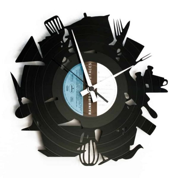 kitchen vinyl record clock