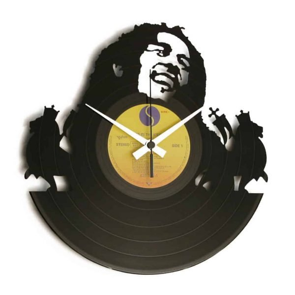 bob marley vinyl record clock