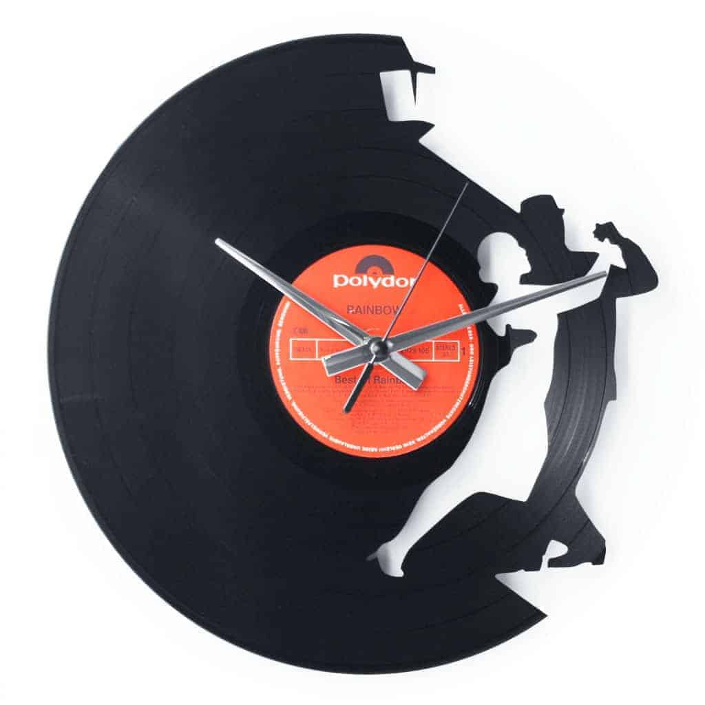 tango vinyl record clock
