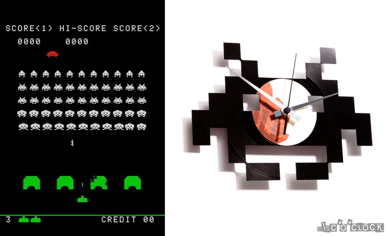 Space Invaders Vinyl Record Clock Www Discoclock Com