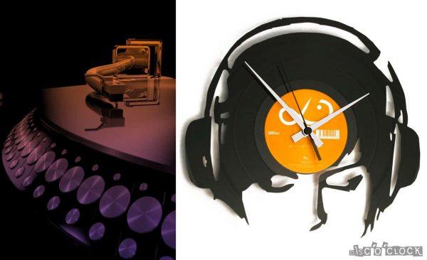dj vinyl record clock