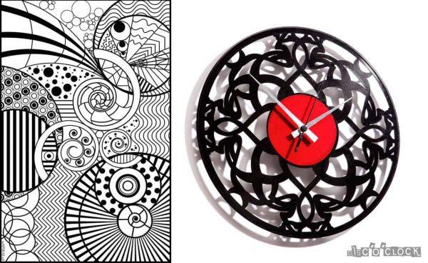 DECO#2 vinyl record clock