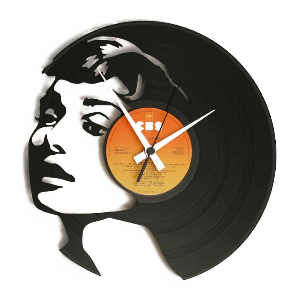 audrey hepburn vinyl record clock