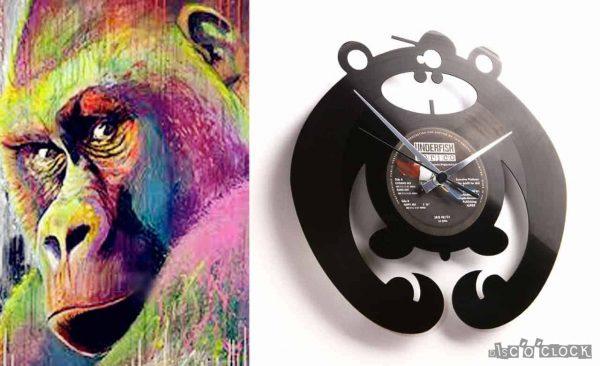 gorilla vinyl record clock