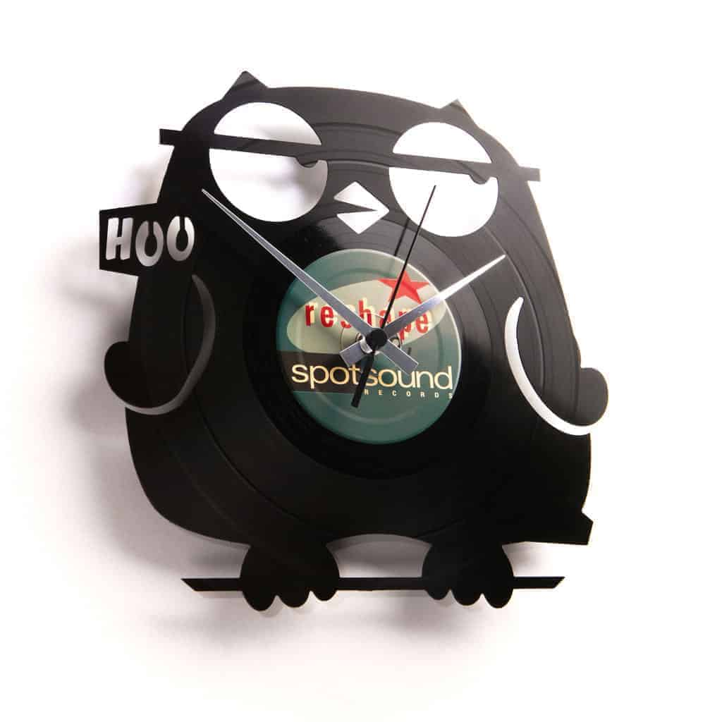 owl vinyl record clock