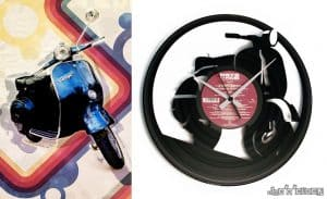 BIKES & CARS vinyl record clocks