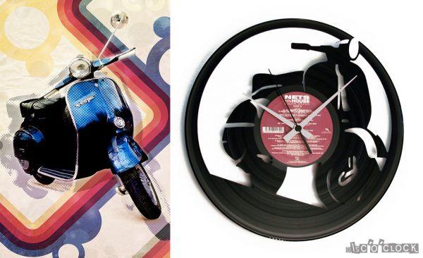 VESPA vinyl record clock