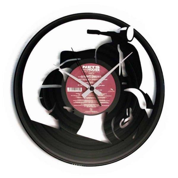 BIKES & CARS vinyl record clocks