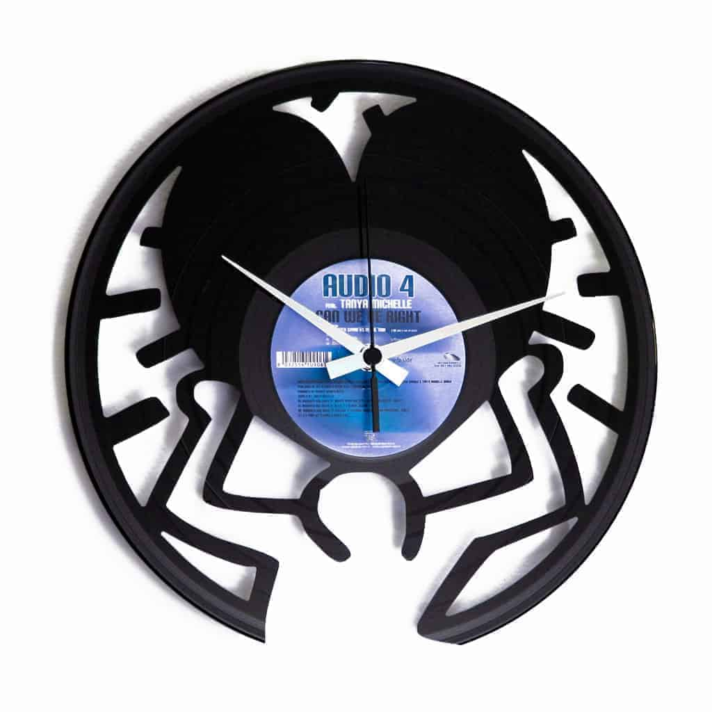 keith haring vinyl record clock