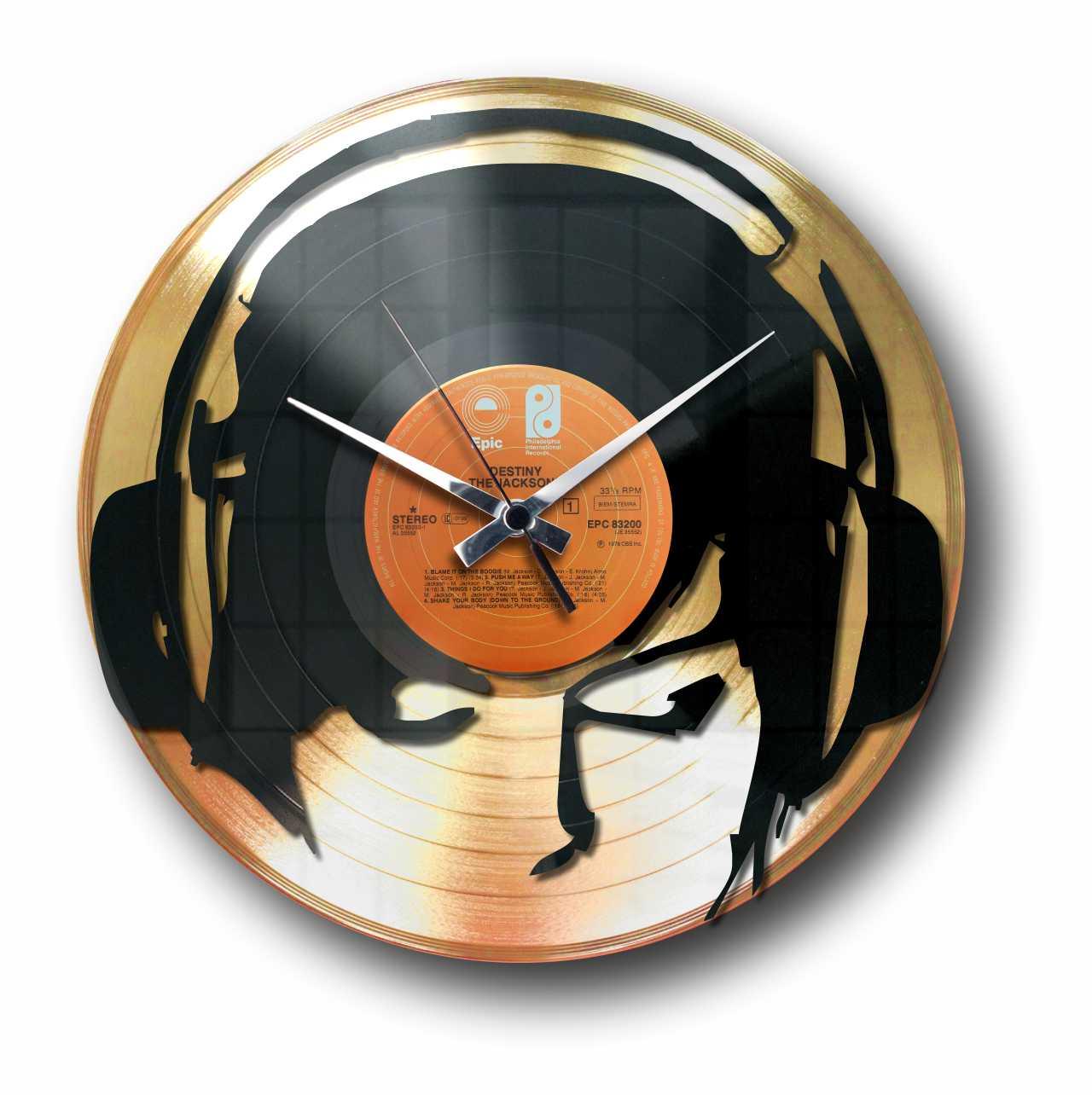 DJANE @ WORK - GOLD or SILVER VINYL RECORD WALL CLOCK