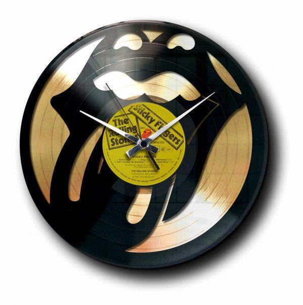 tribute rolling stones Golden vinyl record wall clock