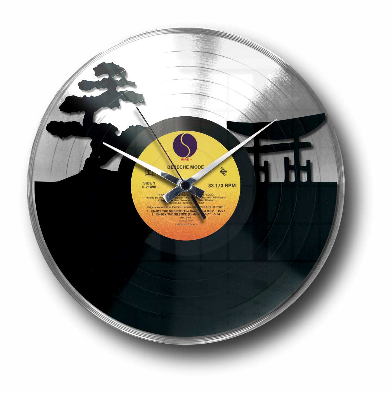 Sunset Gold Or Silver Vinyl Record Wall Clock