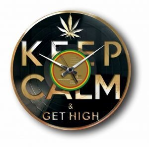 get high weed gold record clock